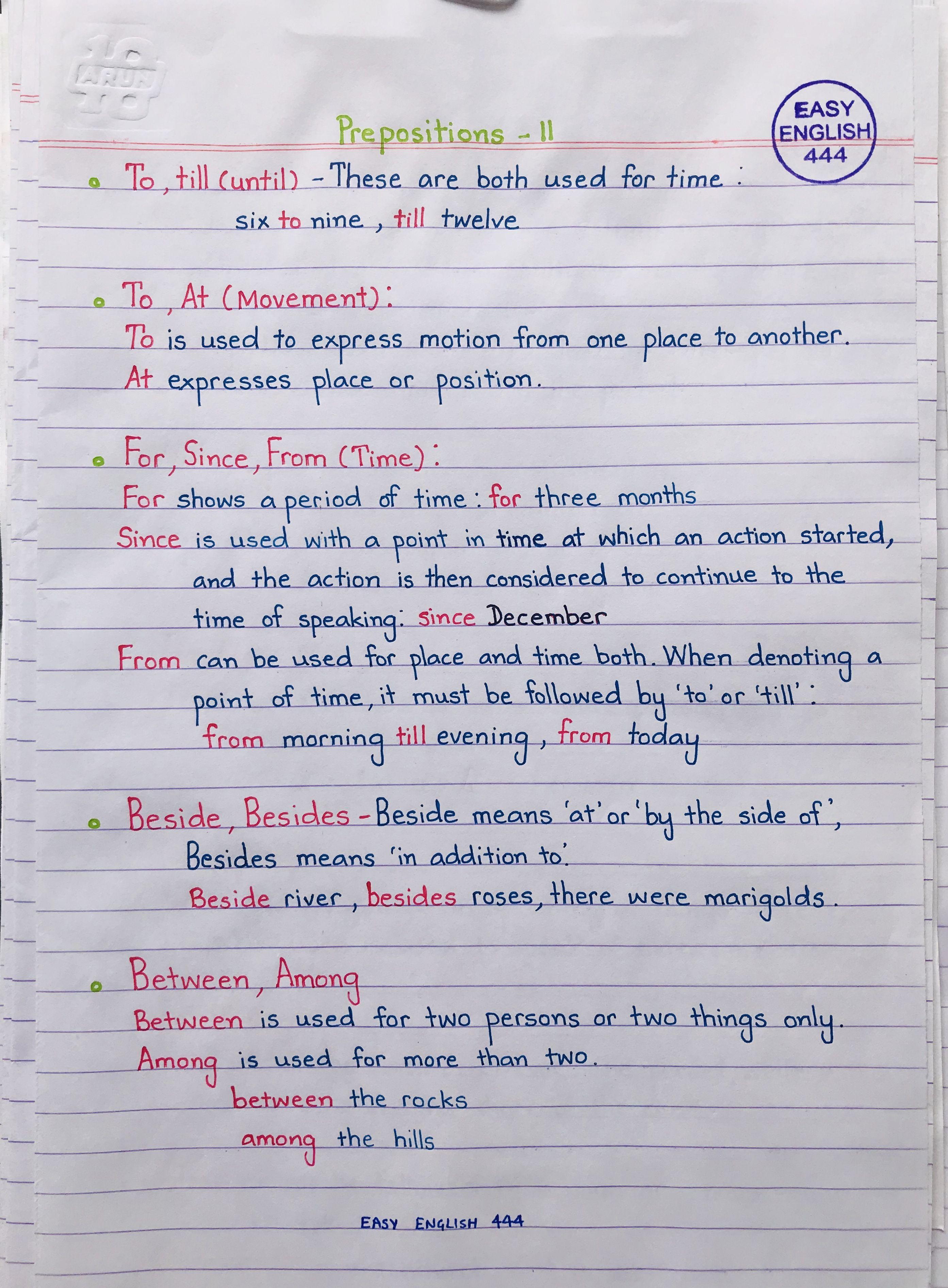 Pin By Noelia Suarez On Prepositions En Ingles With