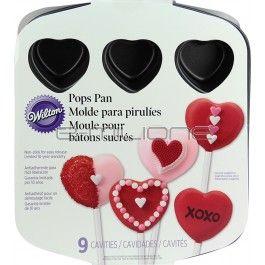 Stampo con 9 cavità ideale per creare dolci e pop-cake a forma di cuore