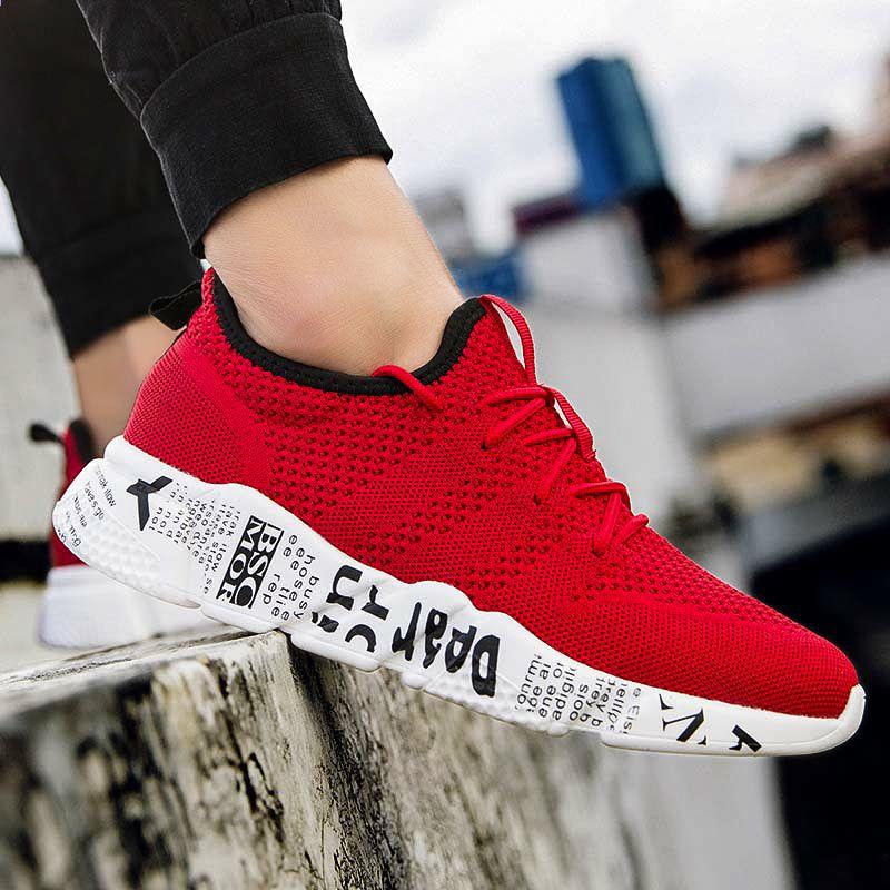 2018 Hot Tanie Meskie Buty Chlopcow Tkaniny Oddychajace Sportowe Buty Do Chodzenia Meskie Trampki Duzy Rozmiar Prosty Styl Sneakers Nike Nike Air Max Nike Free