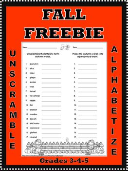 Simple Sentences For Kindergarten Worksheet Pdf This Freebie Is For A One Page Fall Themed Printable With  Parts  Skills For Life Worksheets Excel with Blank Fact Family Worksheets Pdf The First Section Contains  Words That Need To Be Unscrambled To Form  Autumn Themed Words 1st Grade Math Worksheets Free Pdf