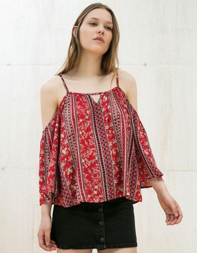 f4f4fcaa739d3 Chemises pour femme - Soldes d été 2016   Bershka France   À acheter ...