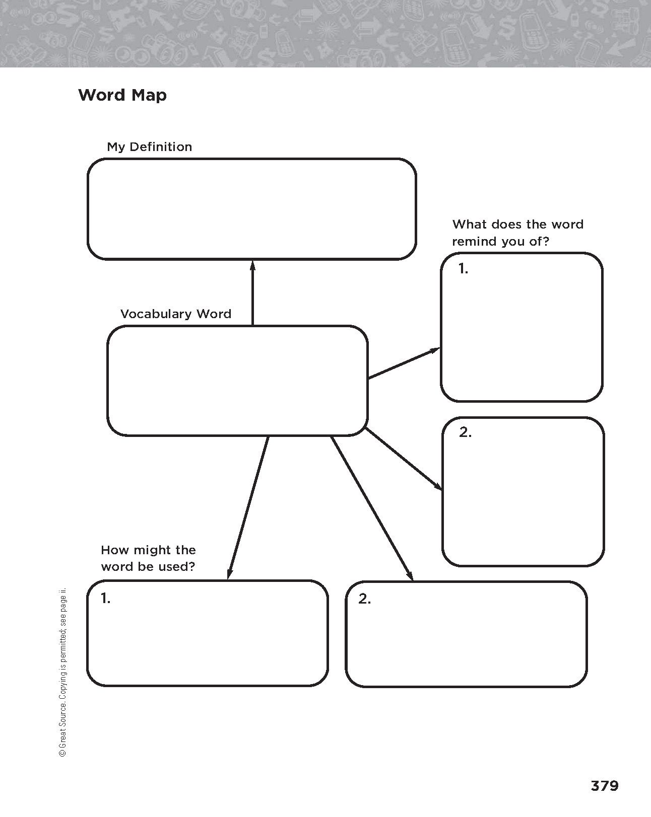 Word Map Grades 6 8 Download And Print This Word Map Graphic Organizer Visit Hmhco