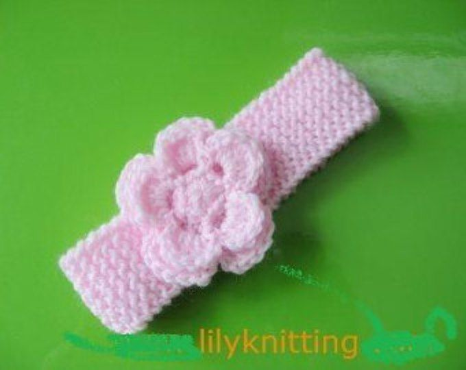 Pattern In Pdf Crochetedknitted Flower Baby Headband Headband 6