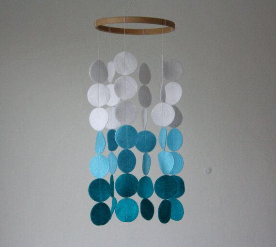 Blue Fade Circle Mobile - I want a mobile somewhere in m house, they make me smile!