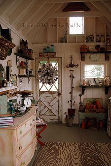 The Garden Shed Inside Barb Rosen S Clipboard On Hometalk Shed Interior Garden Shed Interiors Shed Design