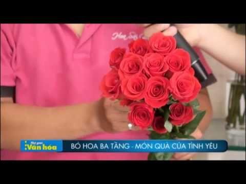 Hướng dẫn làm bó hoa 3 tầng đẹp và độc đáo ( món quà tình ...