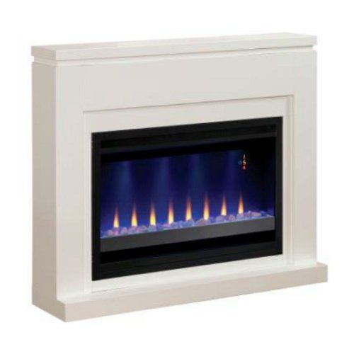 Pro Electric Fireplaces 36wm1512r Contemporary Design With 48 Inch Fireplace Mantel Only White By 501 81
