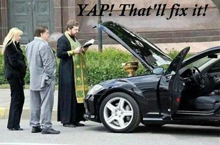 I've fixed your car...