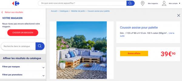 Coussin Pour Palette Carrefour Des Coussins Dassise Et De