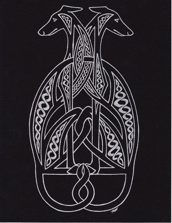 celtichounds blacksilver by on deviantart embroidery pattern ideas. Black Bedroom Furniture Sets. Home Design Ideas