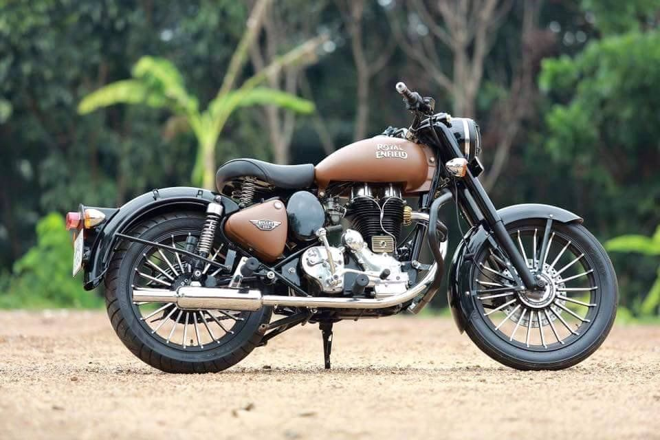 Royal Enfield Classic 350 Dirt Brown Modification Enfield