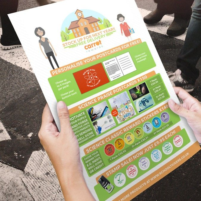 Hire freelance school stickers flyer needs modernising updated