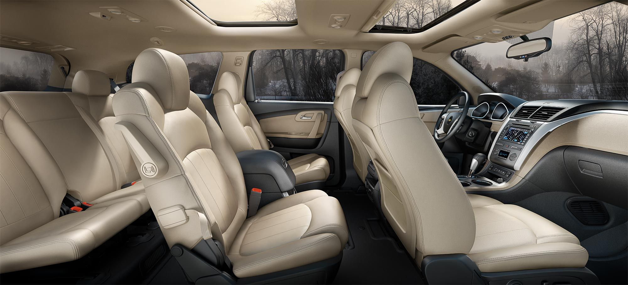 Interior Of A Chevy Traverse...my Next Family Car W/ Entertainment System!