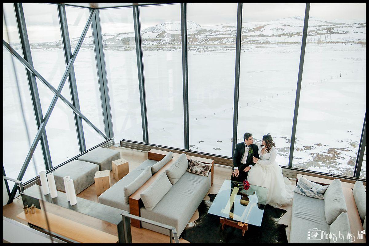 Iceland elopement at ion luxury adventure hotel selfoss
