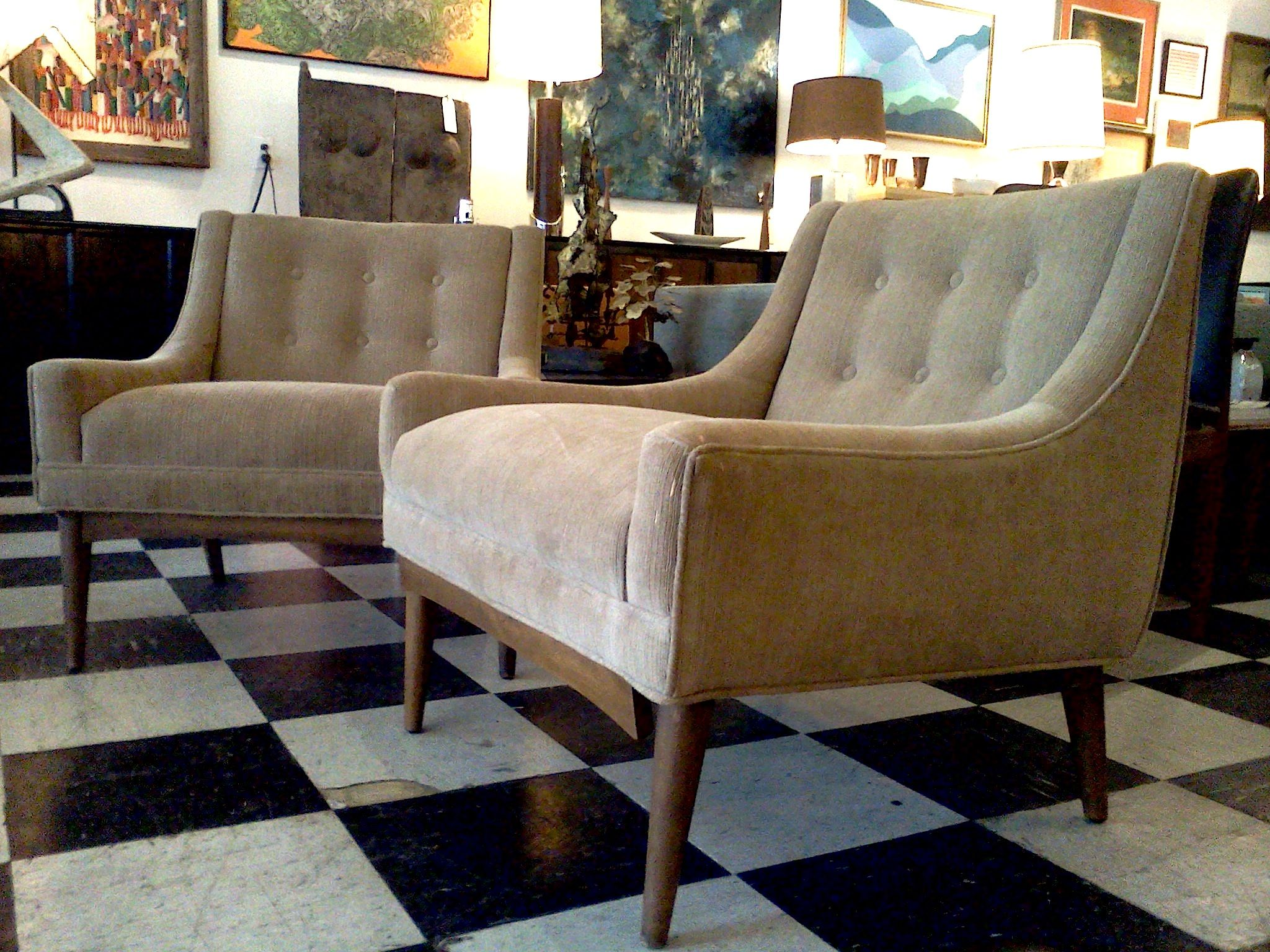 Milo baughman club chairs cool stuff houston mid Modern living room furniture houston tx