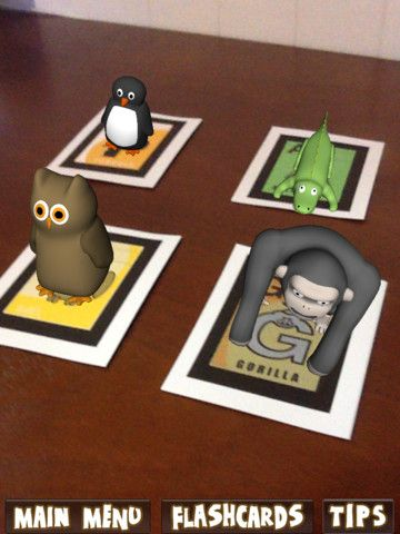 Augmented Reality Flashcards Animal Alphabet will help