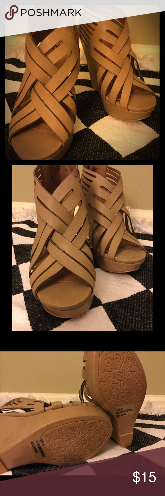 Womens sandals that zip up the back - Shop Women S Charlotte Russe Cream Tan Size Sandals At A Discounted Price At Poshmark Description Braided Tan Wedges Zip Up Back Euc
