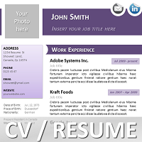 Powerpoint Resume Purple Curriculum Vitae Template For Powerpoint  Resume  Cv For
