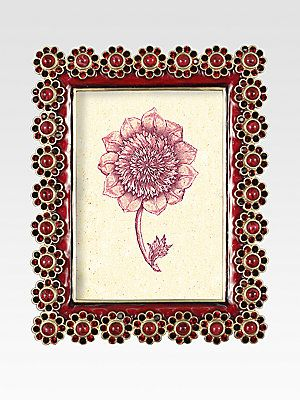 Gorgeous frame by Jay Strongwater Jeweled Flower-Edged Frame