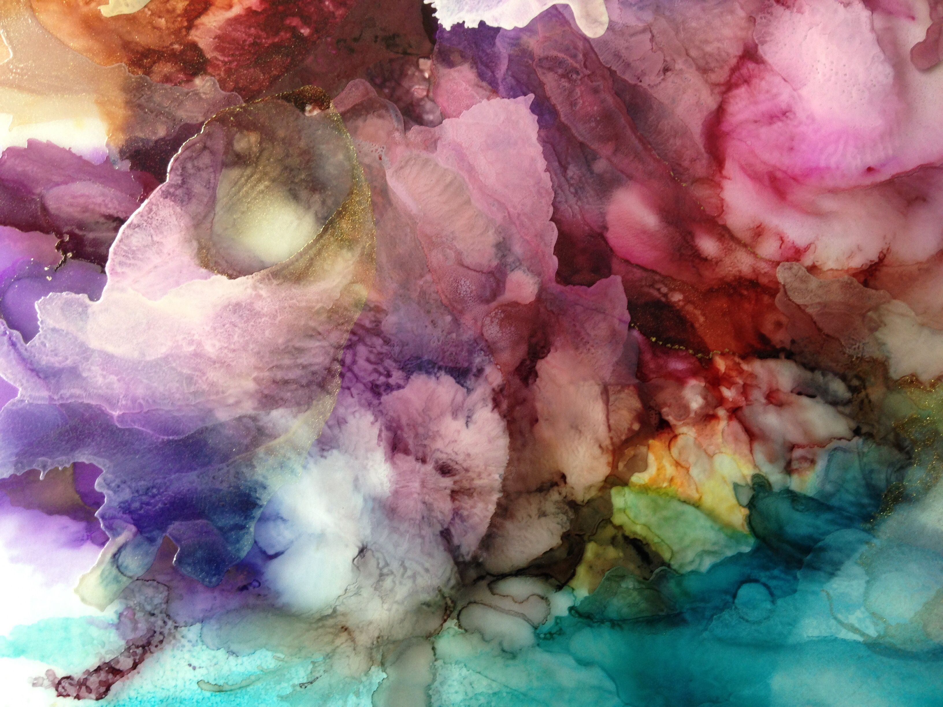 i dream in color abstract alcohol ink painting on acetate
