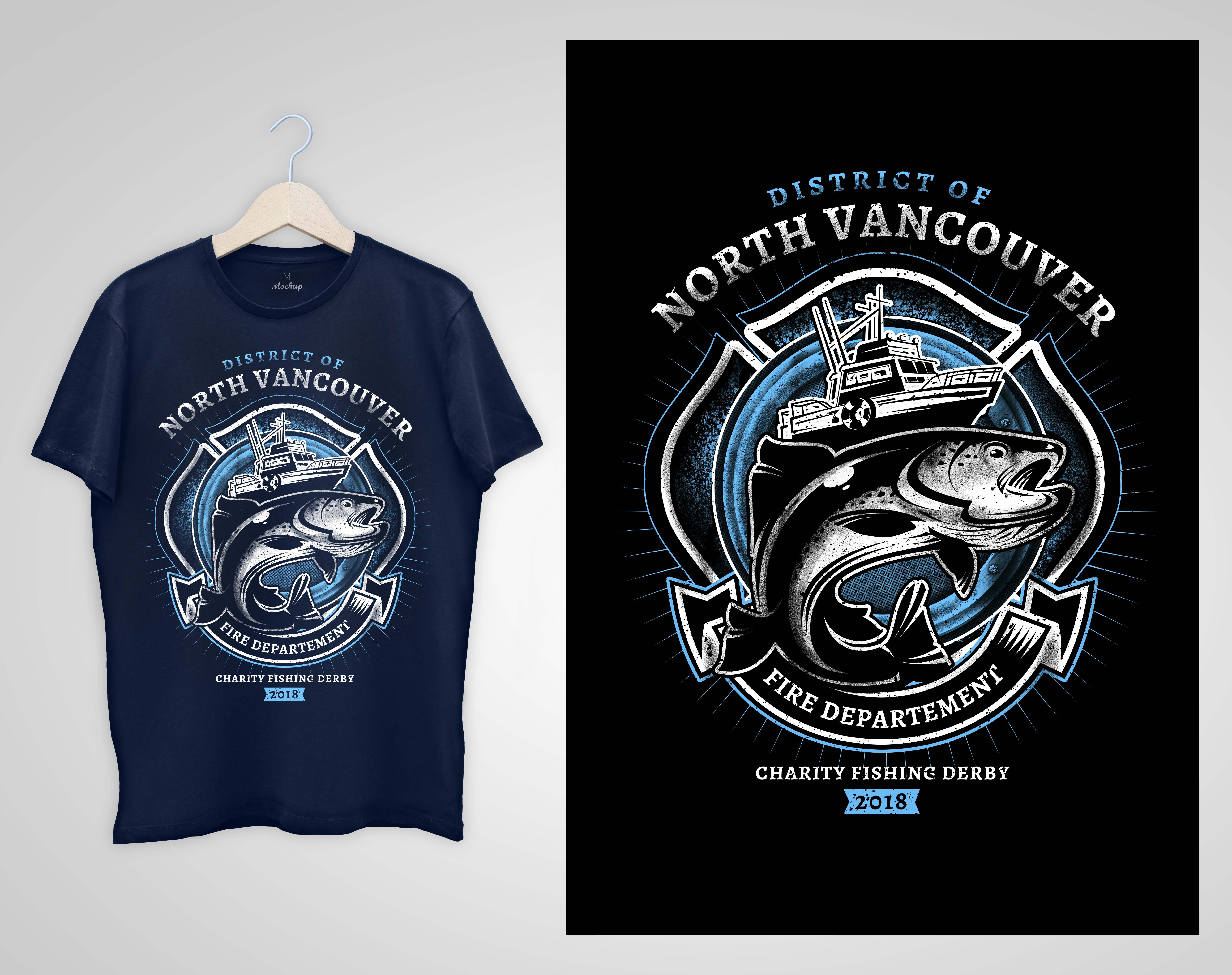 T Shirt Design 18 North Vancouver Fishing Derby Design Project