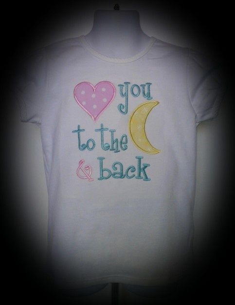 Love You To The Moon And Back Free Machine Embroidery Design