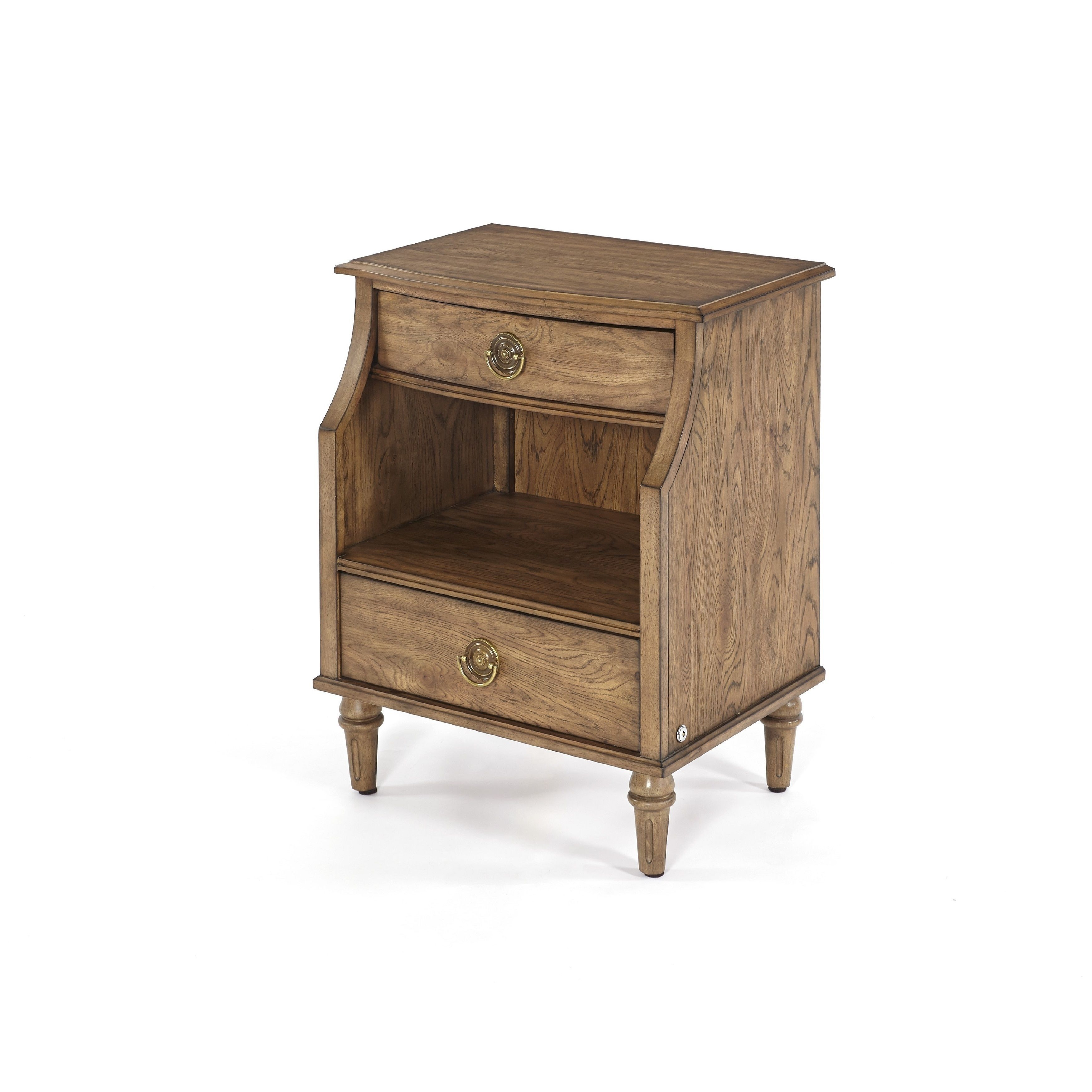 Progressive Standing Room Only Distressed 2 Drawer Nightstand Toffee Finish Brown