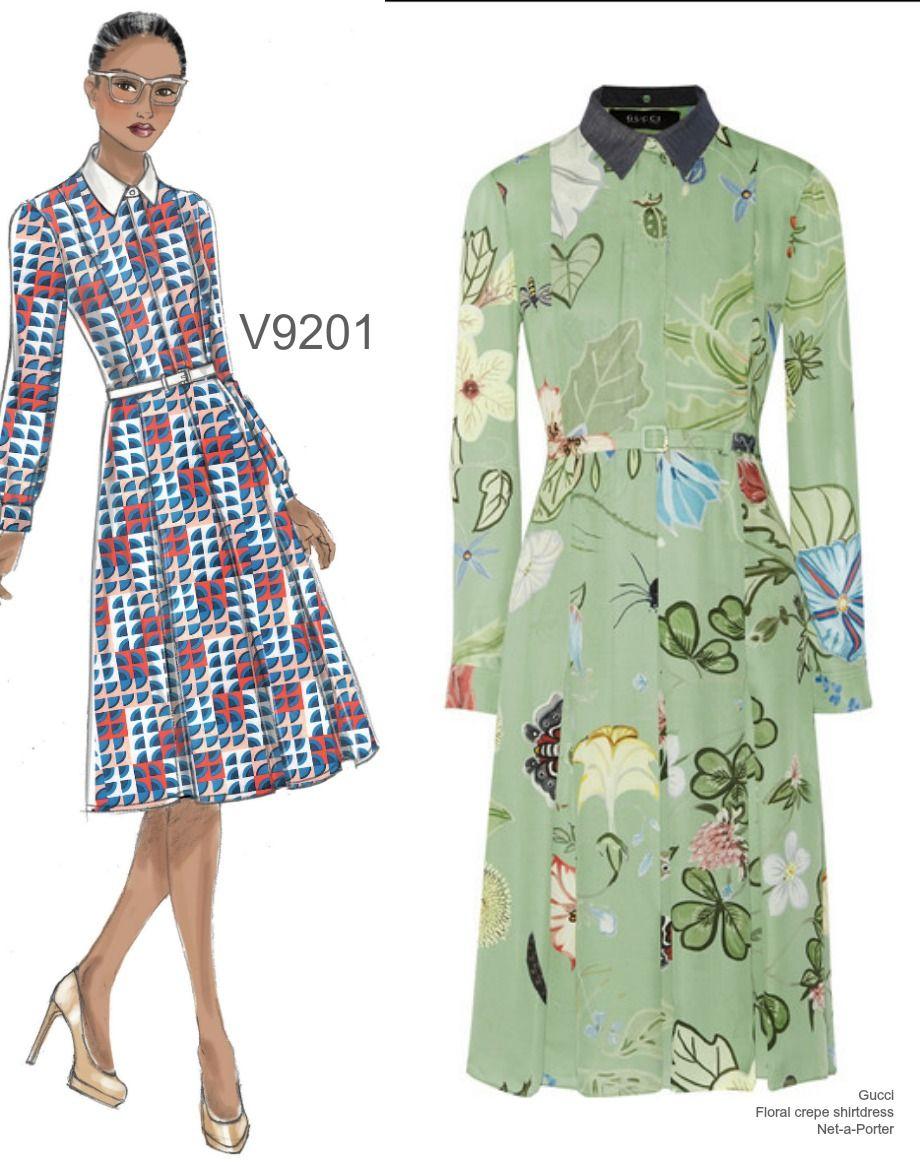 40b417b35e0 Sew the Look  Vogue Patterns V9201 shirtdress pattern