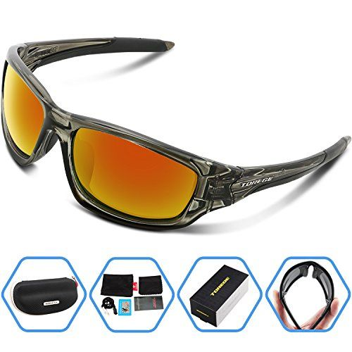 c0772ead3a7 Torege Polarized Sports Sunglasses For Man Women Cycling Running Fishing  Golf TR90 Unbreakable Frame TR011 (