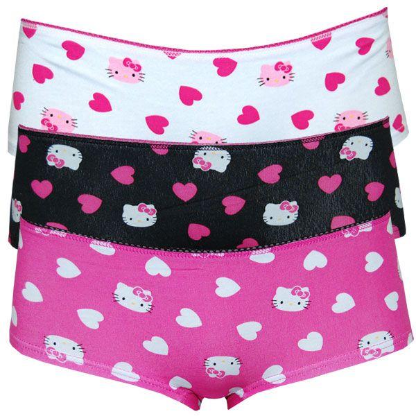 d5d55819f3 Hello Kitty Fuzzy Love Panty Set - 3 pairs of Hello Kitty panties ...
