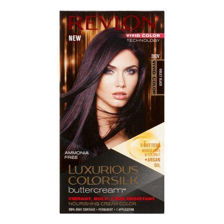 Revlon Luxurious ColorSilk Buttercream Hair Color, Vivid Violet Black   Walmart.com Gallery