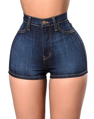 7ccc9faf3956 Women s Denim Shorts - Tengo Womens High Waist Buttocks Denim Shorts      You can find out more details at the link of the image.