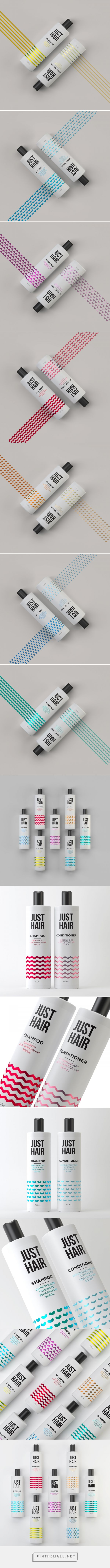 Just Hair packaging design by Pavel Kulinsky - https://www.packagingoftheworld.com/2018/04/just-hair.html