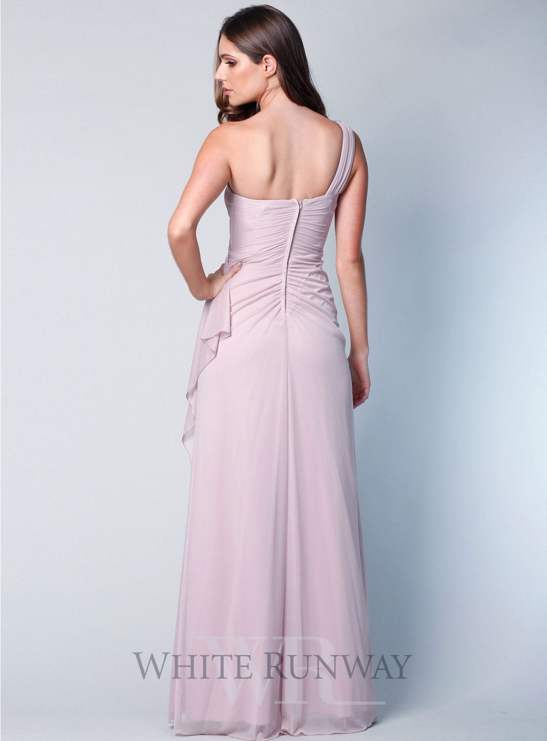 ddd6d6066cfb3 Quinn Dress. A beautiful full length dress by designer Zaliea. A one  shoulder style featuring an embellished strap. A flattering style with  gathers on the ...