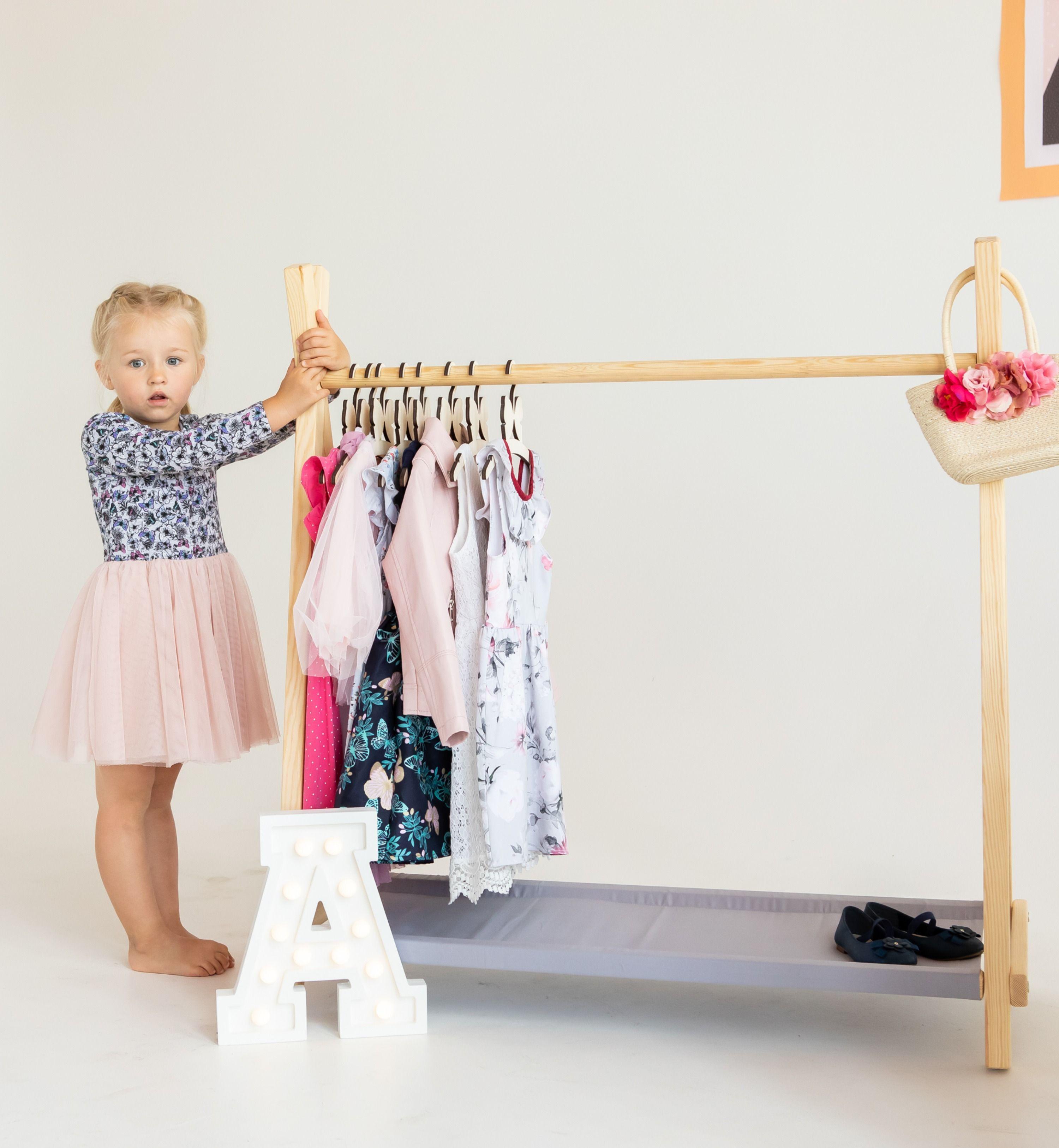 Kids Clothing Rack Wooden Rack Hanging Rack Clothes Rack