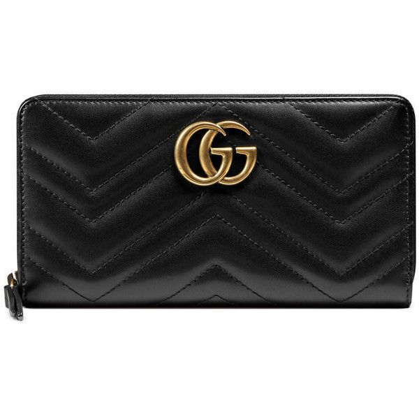 6ecf990e8743 Gucci Gg Marmont Zip Around Wallet ( 510) ❤ liked on Polyvore featuring  bags