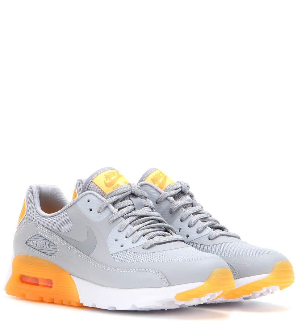 Nike Air Max 90 Ultra Essential grey and orange sneakers