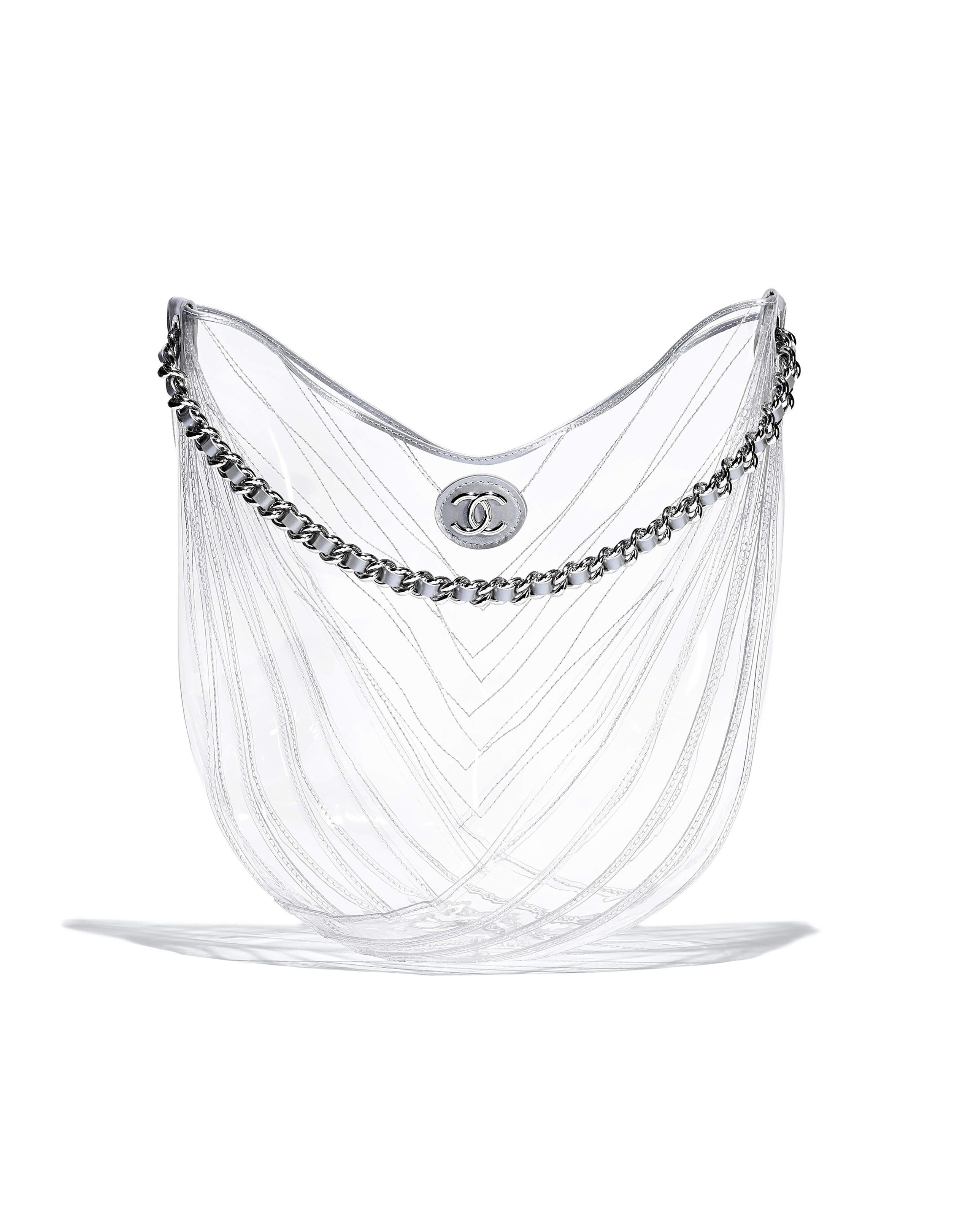 204966ed08a559 Chanel - SS2018 | Transparent PVC Hobo bag | BAGS | Chanel handbags ...