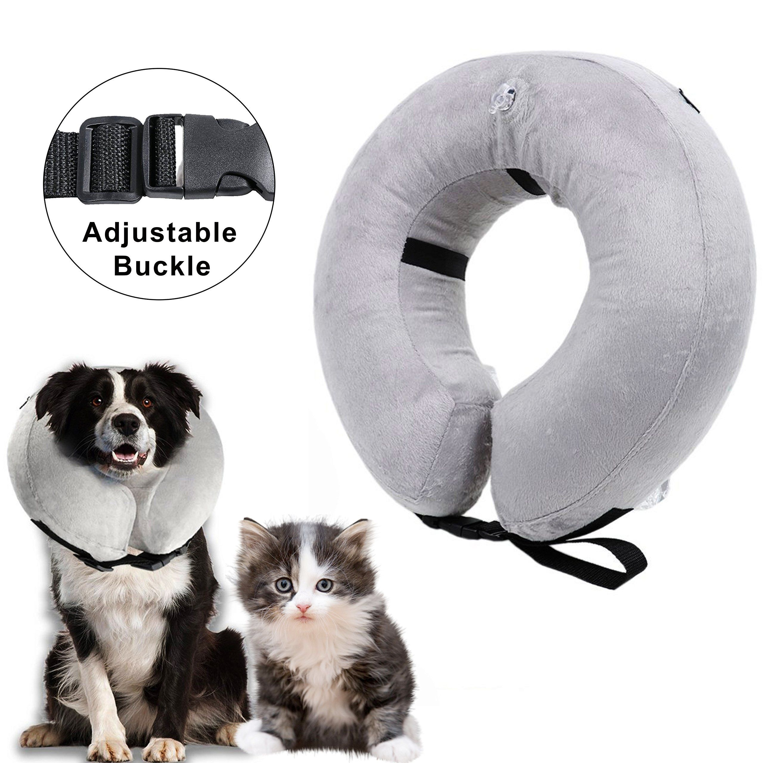 Inflatable Collar For Dogs Recovery Collar Cone For Dogs And Cats Medical Collar Inflatable Small Find Out More Testimonials Of The Dog Cat Cat Collars Pets