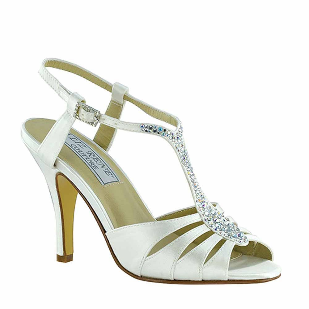 a0cdaf06de27 Liz Rene Couture Strappy Bliss Bridal Sandals Heels with Rhinestone Detail   Strappy
