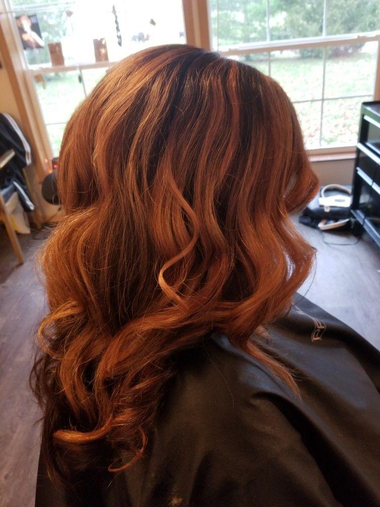 Golden copper highlights, Paul Mitchell the demi Hair