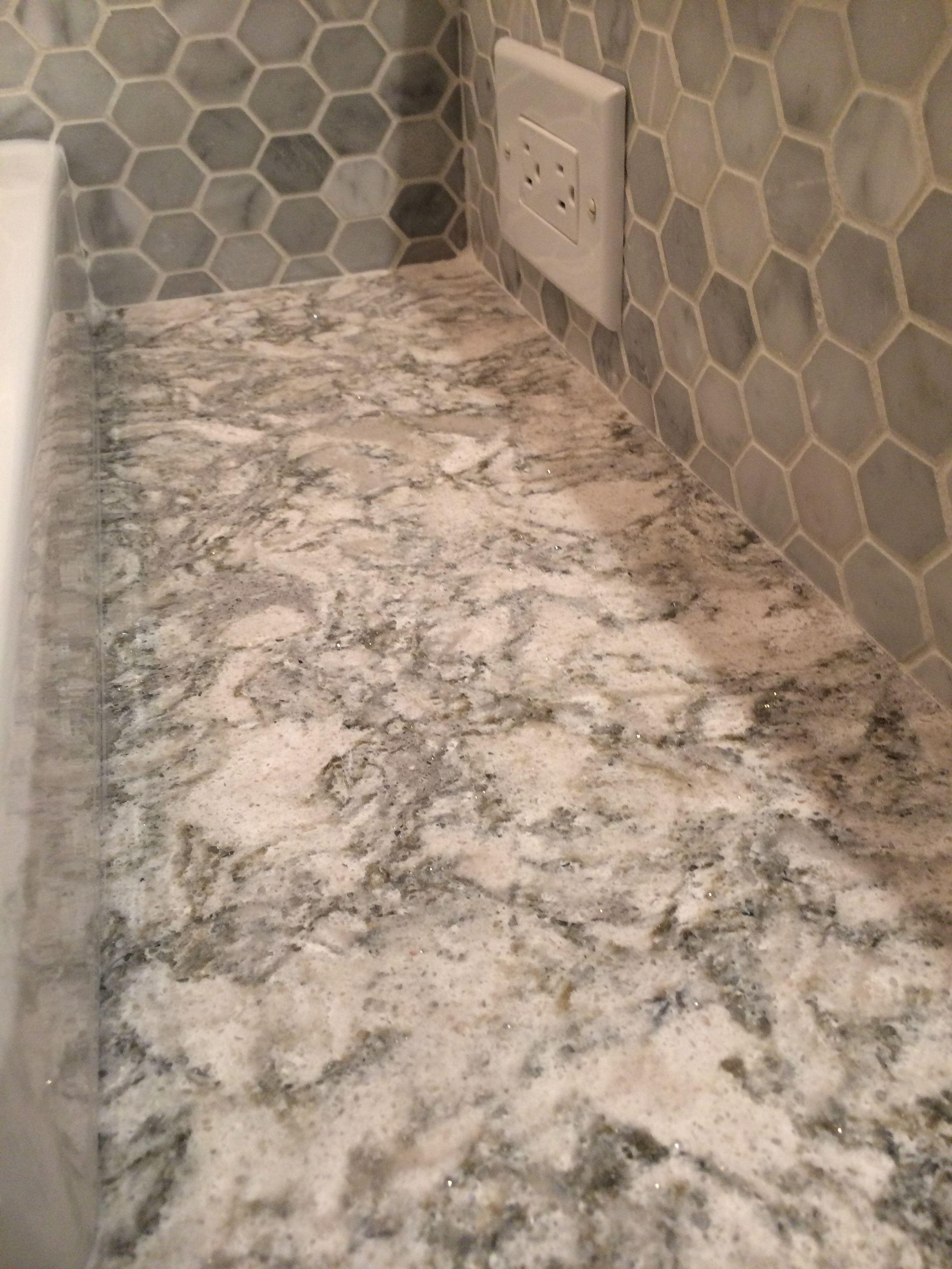 Cambria Quartz Color Berwyn With Marble Tile Backsplash