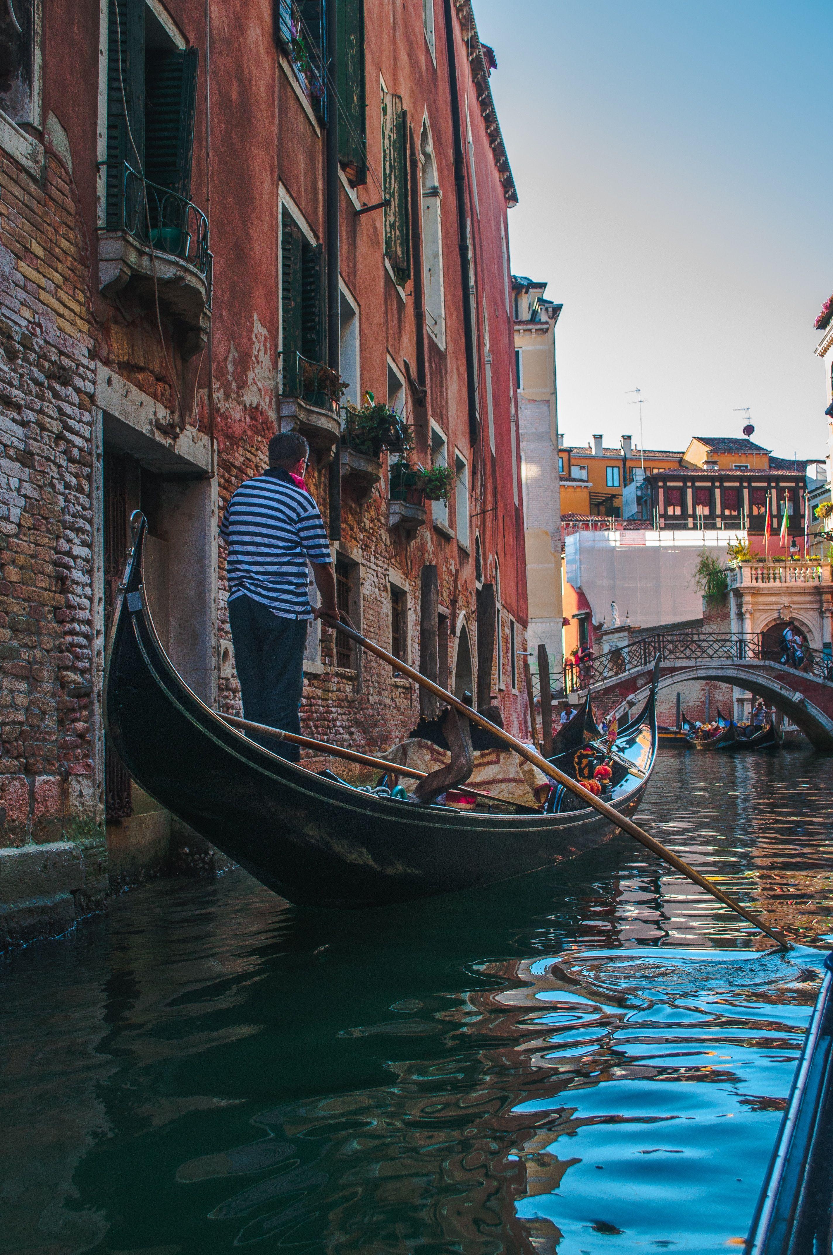 Metropolitan City Of Venice Italy Man