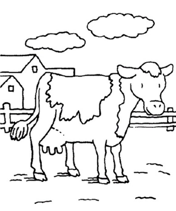 Cow Coloring Pages Animal Farm | Classroom color pages | Pinterest