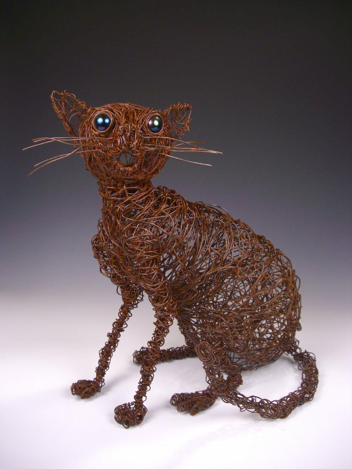 Kitty Skeleton Sculpture