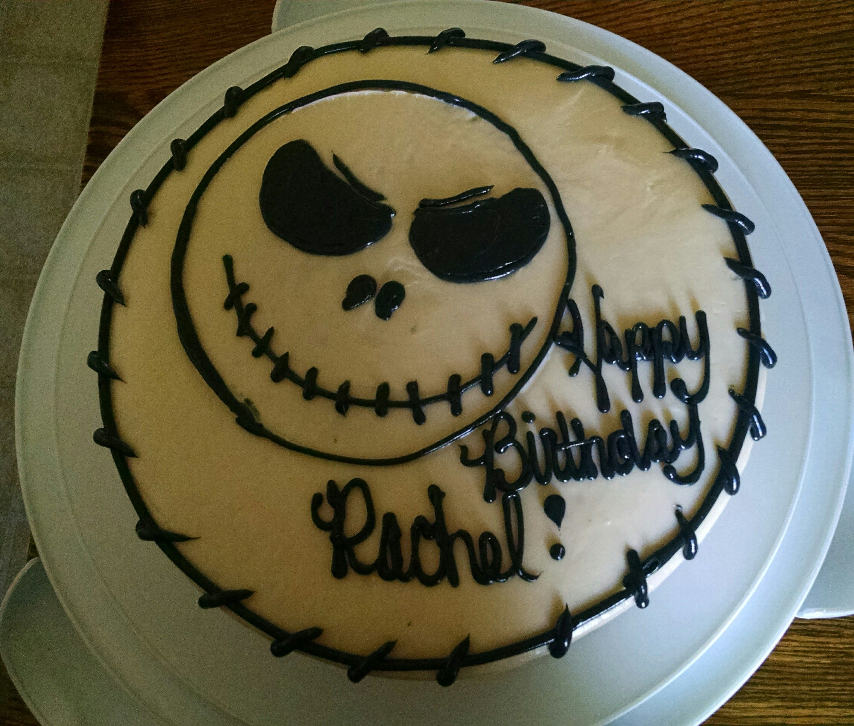 Jack Skellington birthday cake Decorated Cakes Pinterest Jack