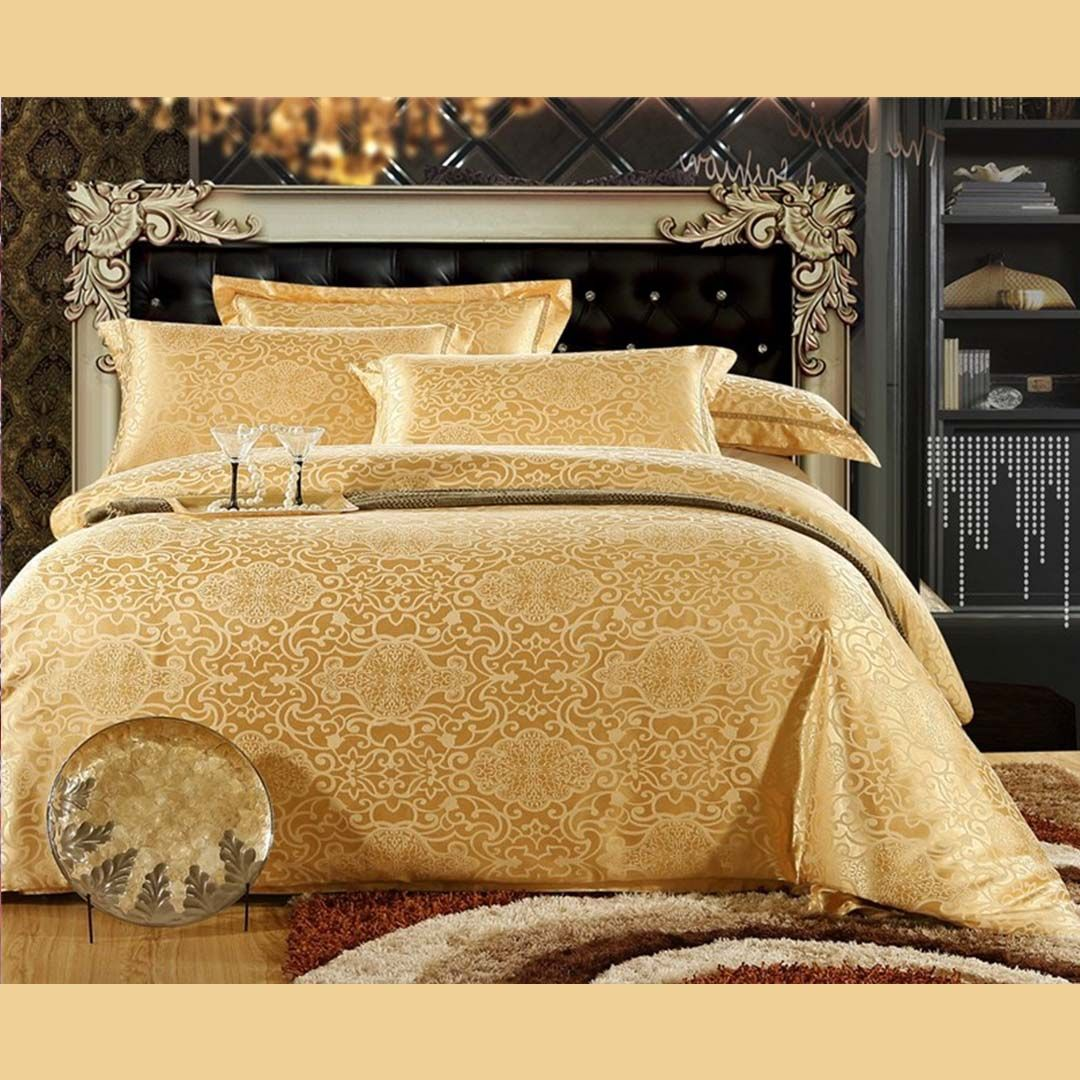 Gold Luxury Bedding Set Full Queen King Size Luxury Bedding