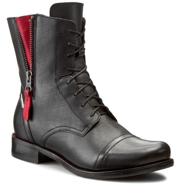 Botki Lasocki 70174 16 Czarny Combat Boots Army Boot Boots