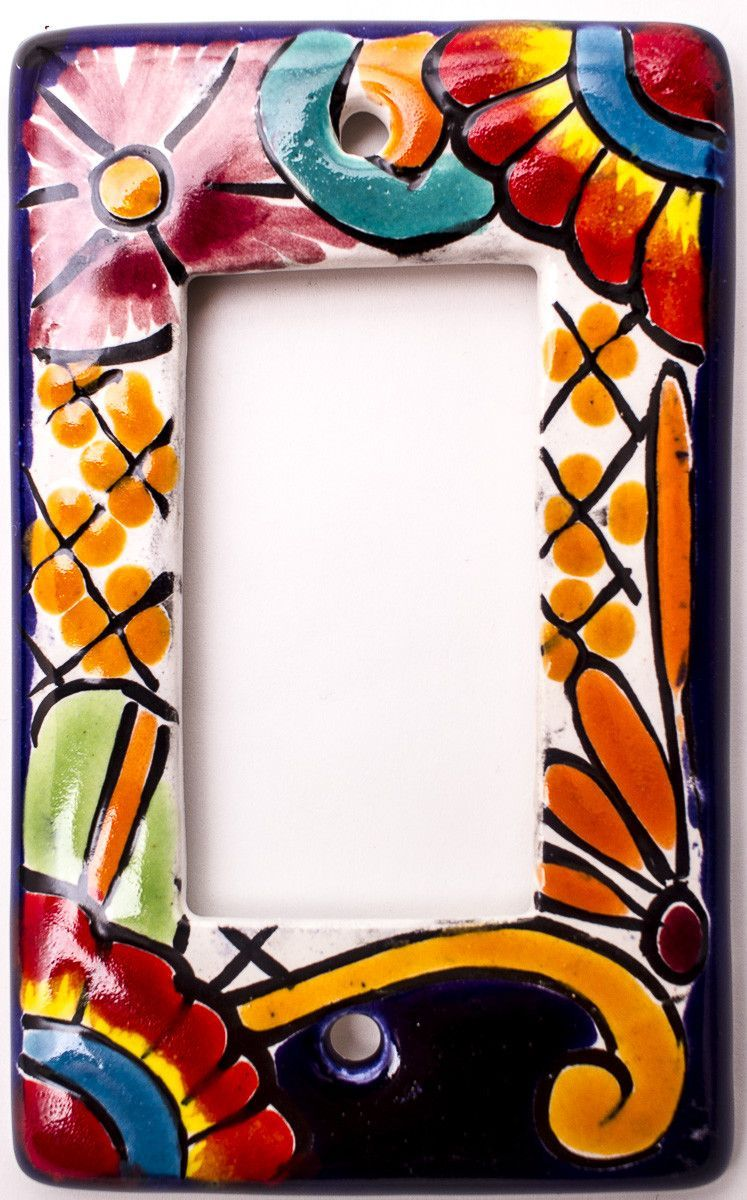 Mexican Talavera Pottery Rocker Switch Plate Trsp013