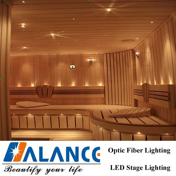 Sauna Optic Fiber Star Ceiling Lighting with Color Change Decorations & Sauna Optic Fiber Star Ceiling Lighting with Color Change ...